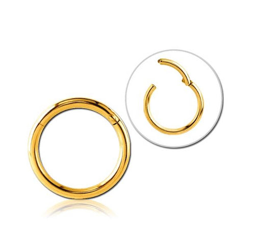 6mm Hinged Nose Ring in YELLOW GOLD