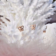 Rose Gold Butterfly Studs