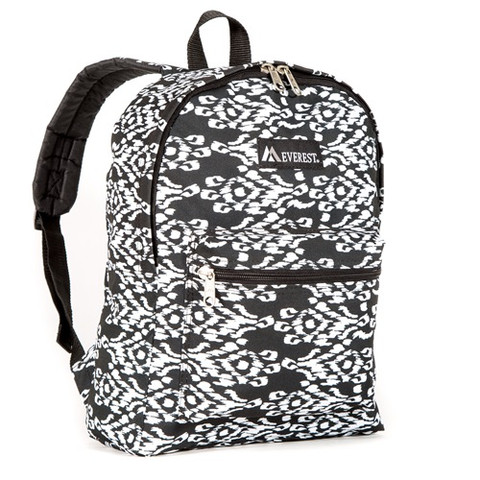 Black/white pattern backpack