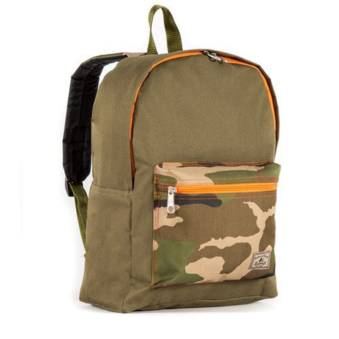 Camo color block backpack