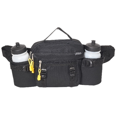 Dual squeeze hydration waist pack