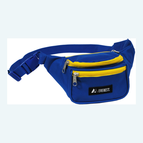 Royal blue/yellow fanny pack