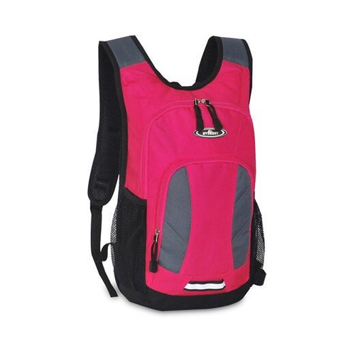 Hot pink mini hiking backpack