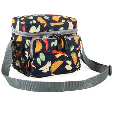 Taco pattern lunch/cooler bag