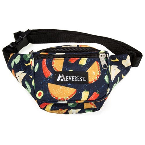 Taco pattern fanny pack
