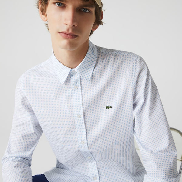 Men's Slim Fit Checked Cotton Poplin Shirt