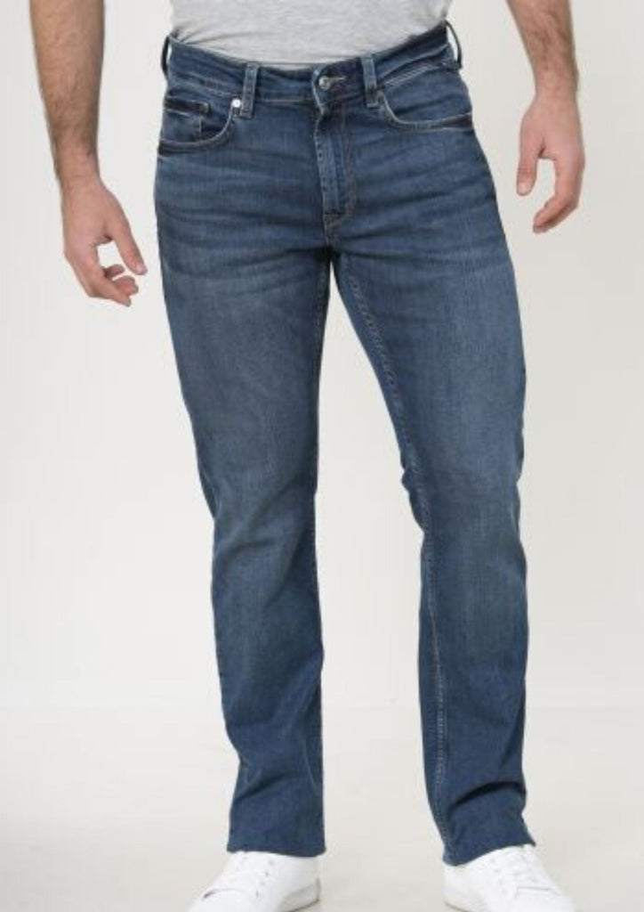 Nautical jeans for a man in the cut SLIM 15381