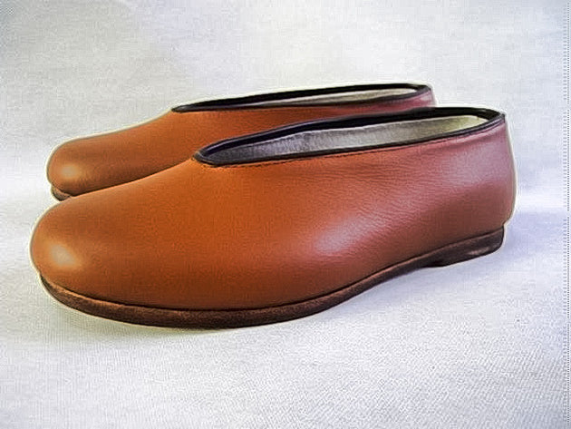 Traditional Gong Fu Leather Shoes Brown