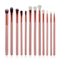 12Pcs Cosmetic Eyebrow Eyeshadow Brush Makeup Brush Sets Kits Tools