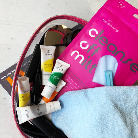 skincare for a weekend away