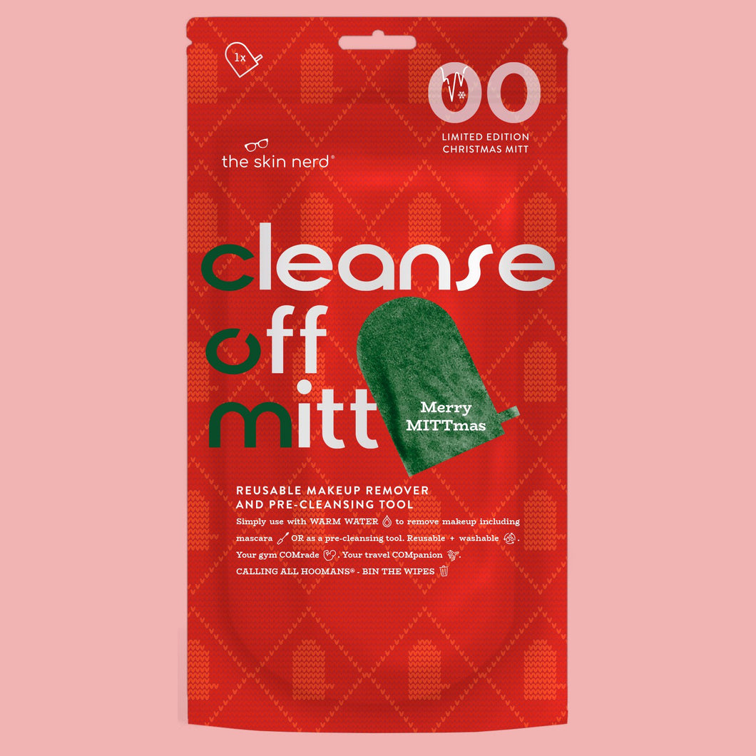 Cleanse Off Mitt - Limited Edition Christmas Green