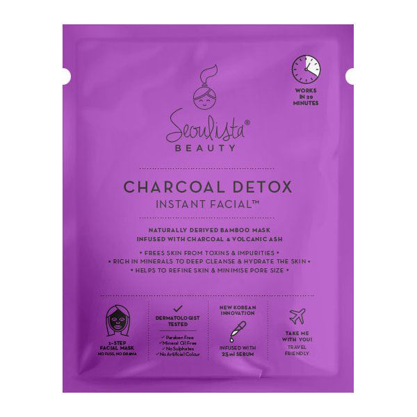 Seoulista Charcoal Detox Instant Facial Sheet Mask