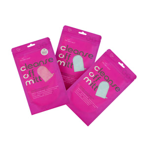 Cleanse Off Mitt Three-Pack (2 blue, 1 pink)