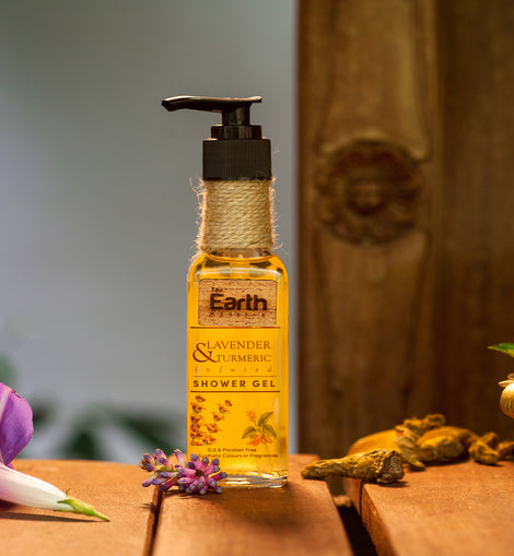 Lavender & Turmeric Shower Gel │ Cocoa butter & Rose Essential Oil │ Conditioning