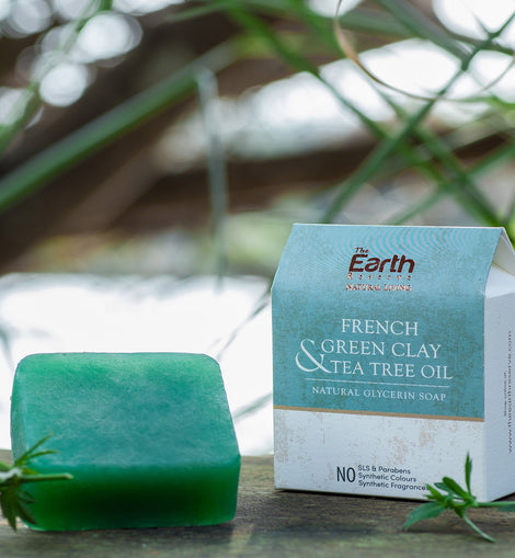 All Natural French Green Clay Soap. SLS & Paraben Free.