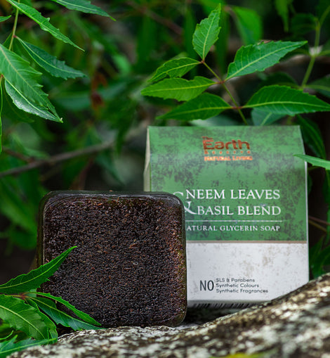 All Natural Neem Leaves & Basil Blend Natural Glycerin Soap