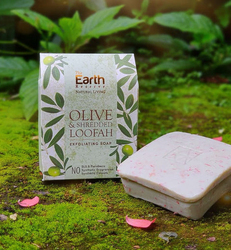 Olive & Shredded Loofah Exfoliating Soap
