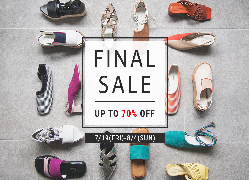 FINAL SALE がスタート!【UP TO 70%OFF】