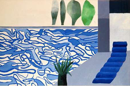 David Hockney Picture of a Hollywood Swimming Pool 1964 - acrylic on canvas 36x48 in.