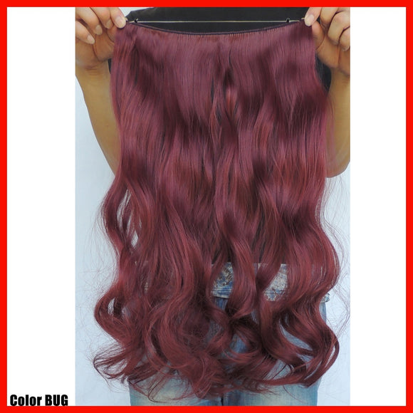 Wire Extension Human Hair Curly Weave Secret Halo Hair Extensions