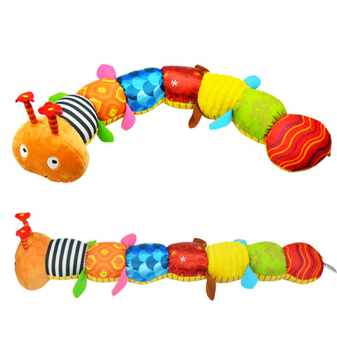 Musical Caterpillar Soft Baby Rattle