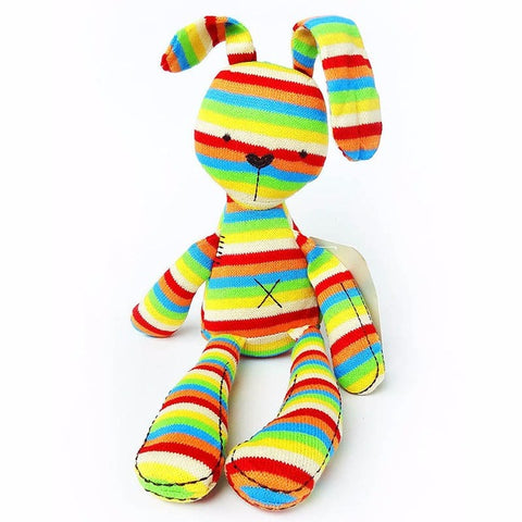 Cute Soft Plush Rainbow Rabbit Toy