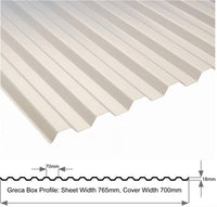 Greca Box Profile 1.0mm Heavy Duty Clear Sheet