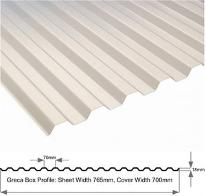 Greca Box Profile 1.0mm Heavy Duty Translucent Sheet