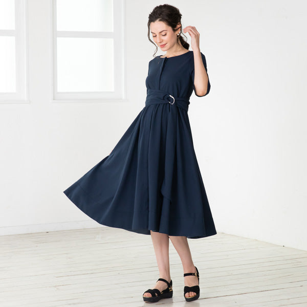 Maternity and Nursing Georgette Flare Dress With Petticoat