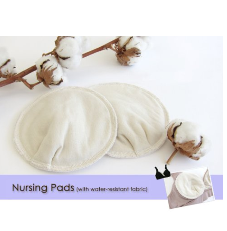 Maternity and Nursing Organic Cotton Nursing Pads with water-resistant faBrownic
