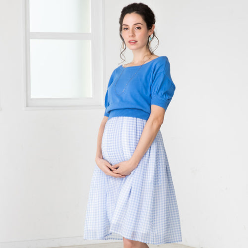 Maternity and Nursing 3-WAY 100% Organic Cotton Chiffon Cami Dress Cardigan Set