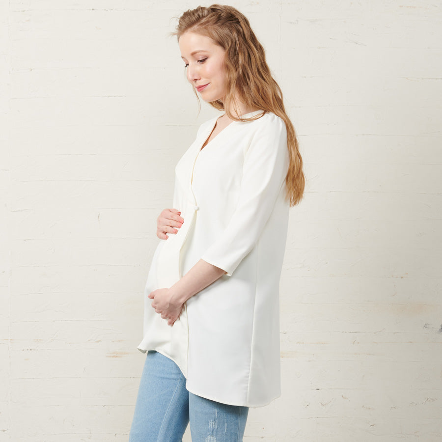Maternity and Nursing Asymmetric Blouse