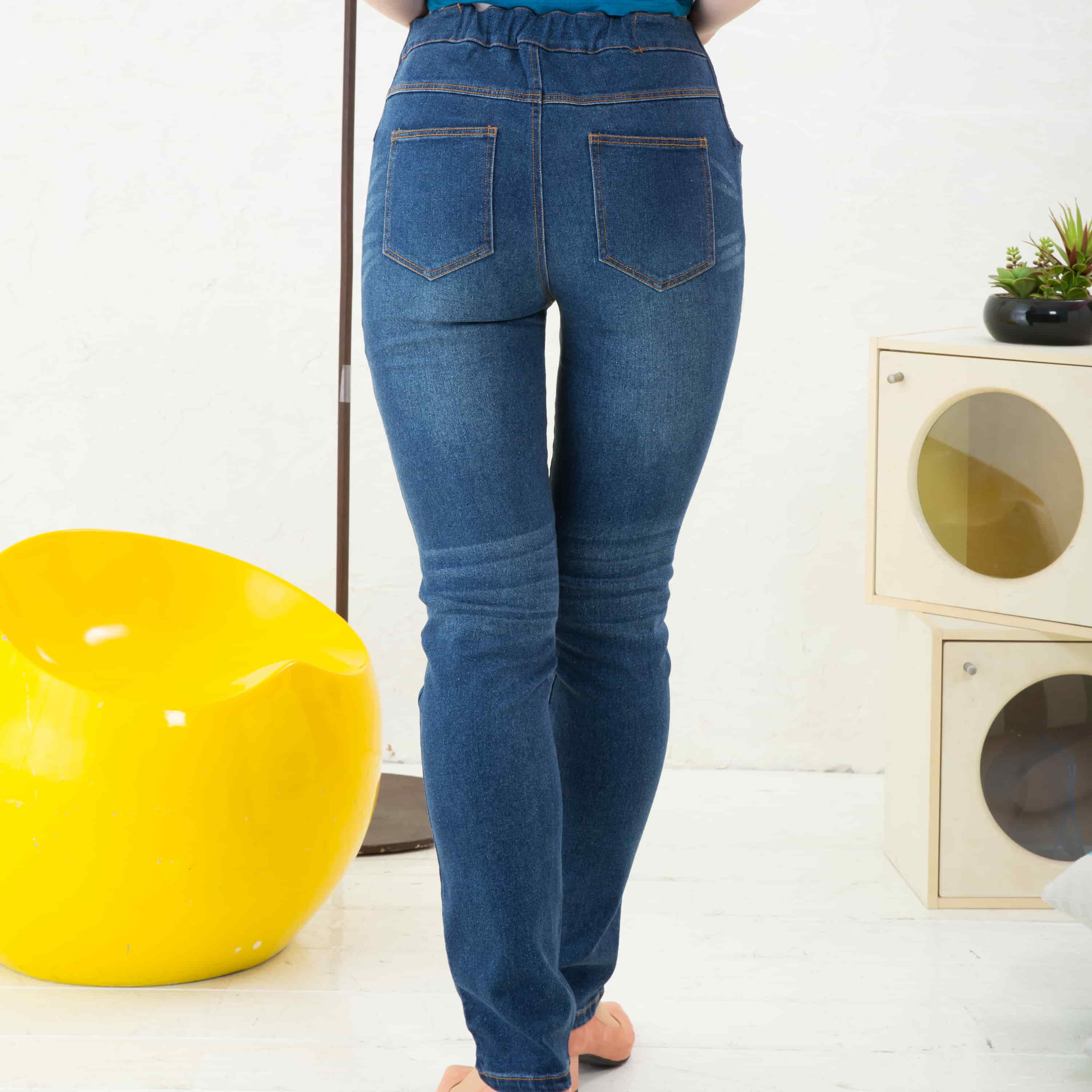 Classic High Waist Maternity Stretchy Straight Leg Jeans