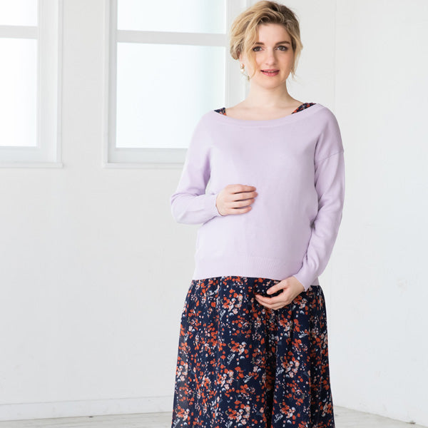 Maternity and Nursing 100% Organic cotton 3 WAY Knit Top