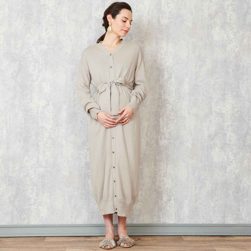 Maternity Open Front 100% Organic Cotton Knit Cardigan Dress