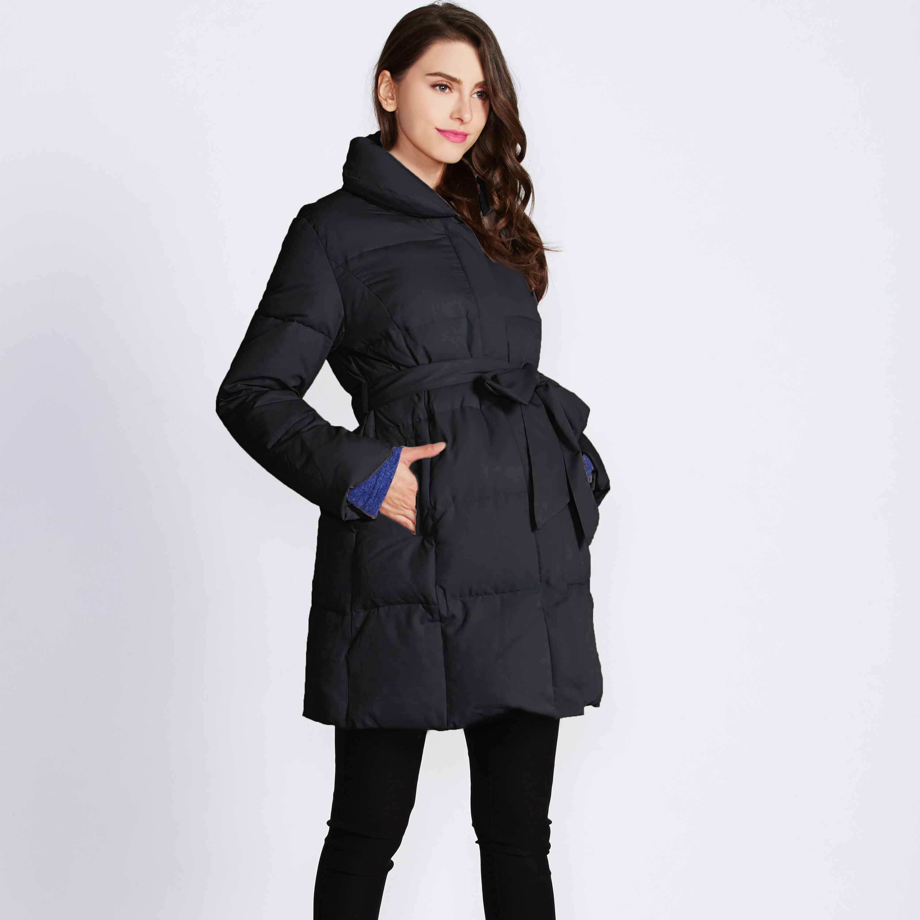 LUXE Maternity and Post-Partum Baby Covering Down Winter Coat