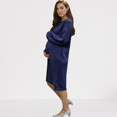 LUXE Maternity and Nursing Skin-friendly 100% Organic Cotton Knit Dress