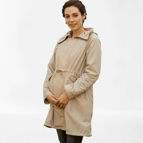 Maternity 4 in 1 Mods Coat with Baby Panel / Raincoat / Boa Fleece Jacket