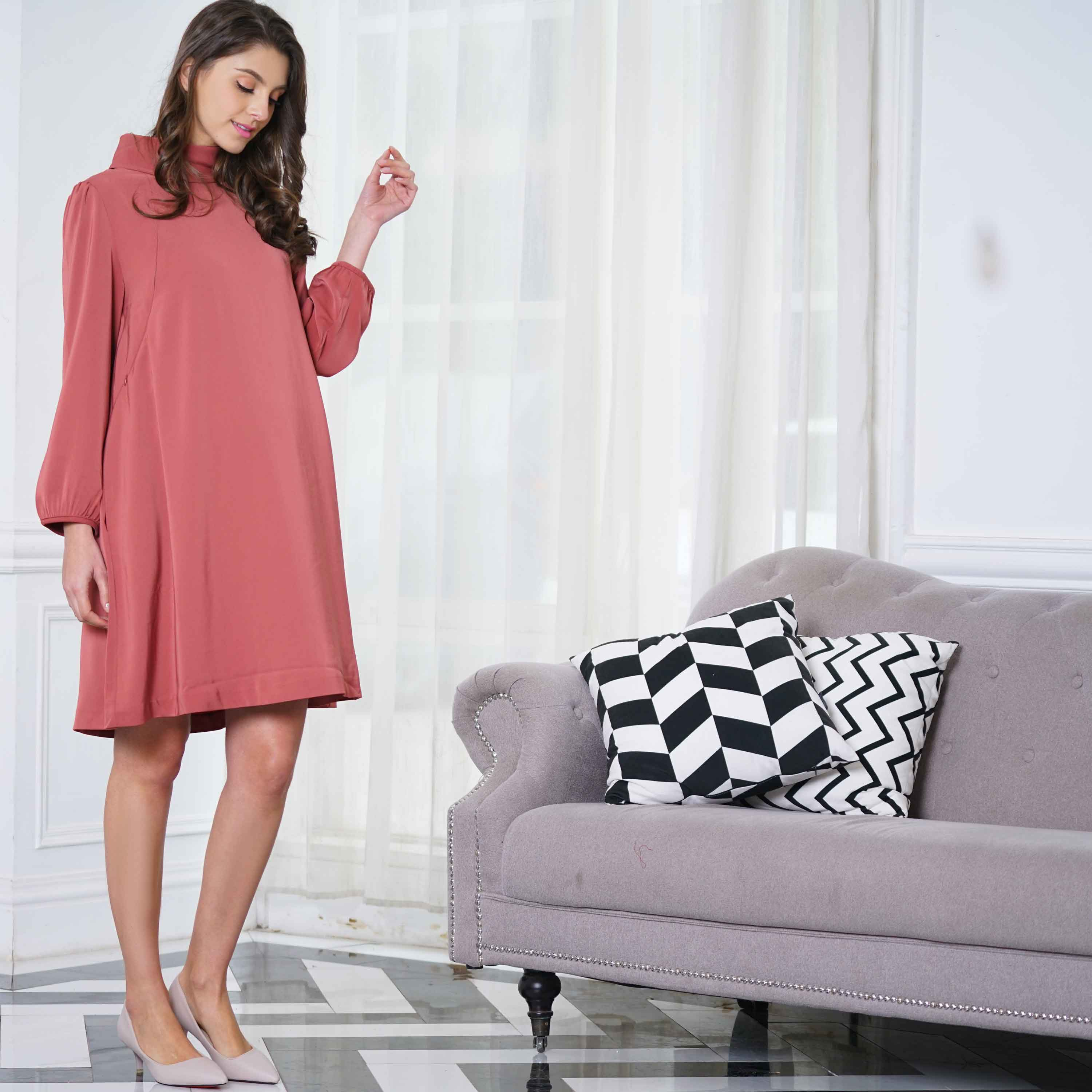 Maternity and Nursing Office Formal Long Sleeves Dress
