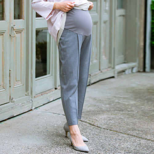 Maternity/ Preganancy Classic Style Office Pants/ TROUSERS with Cotton Belly Poach