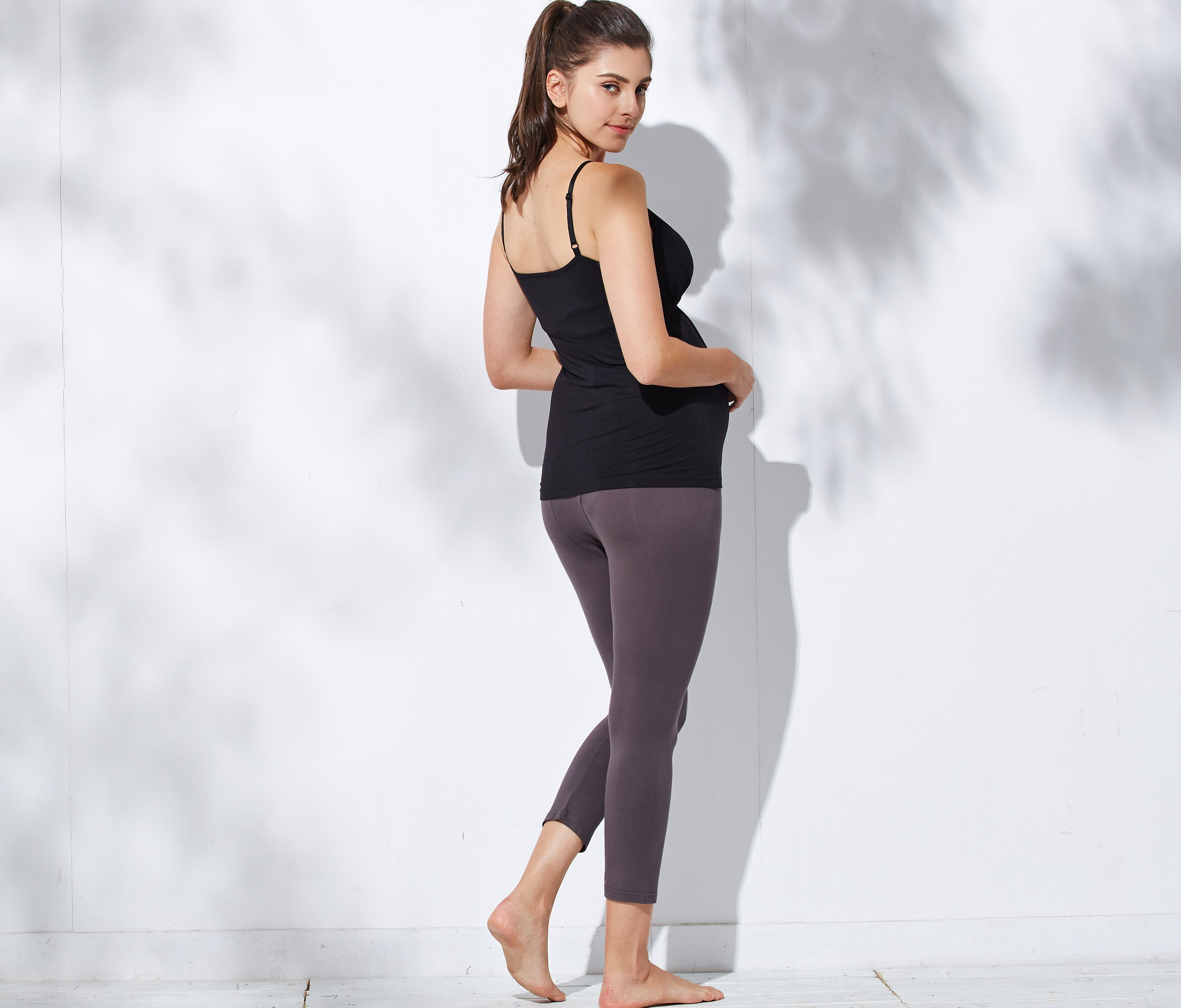 maternity leggings charcoal