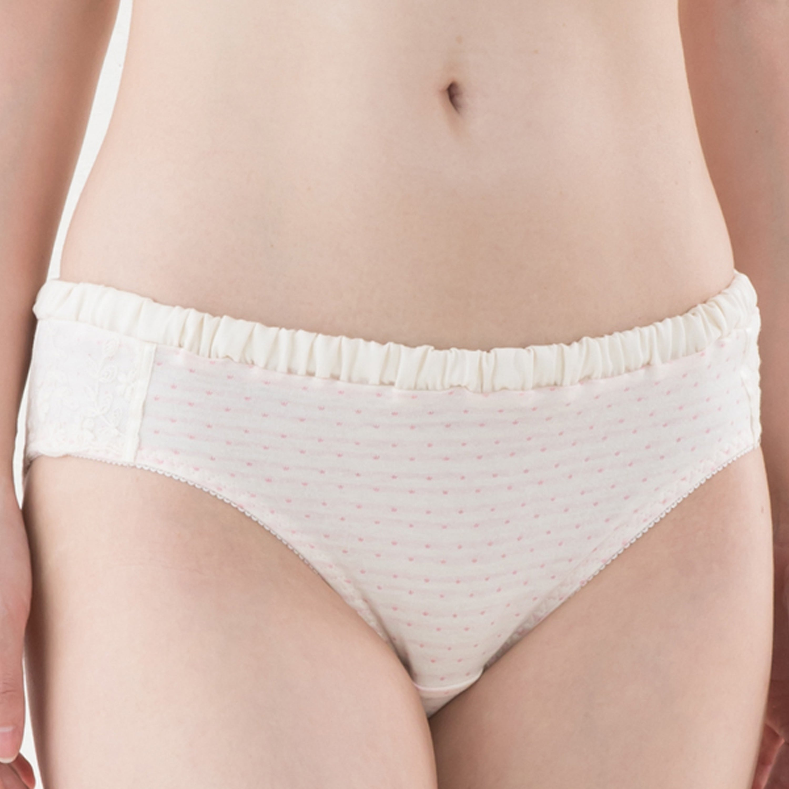 [MADE IN JAPAN] Maternity and Post-Partum 100% Organic Cotton Floral Lace Panties