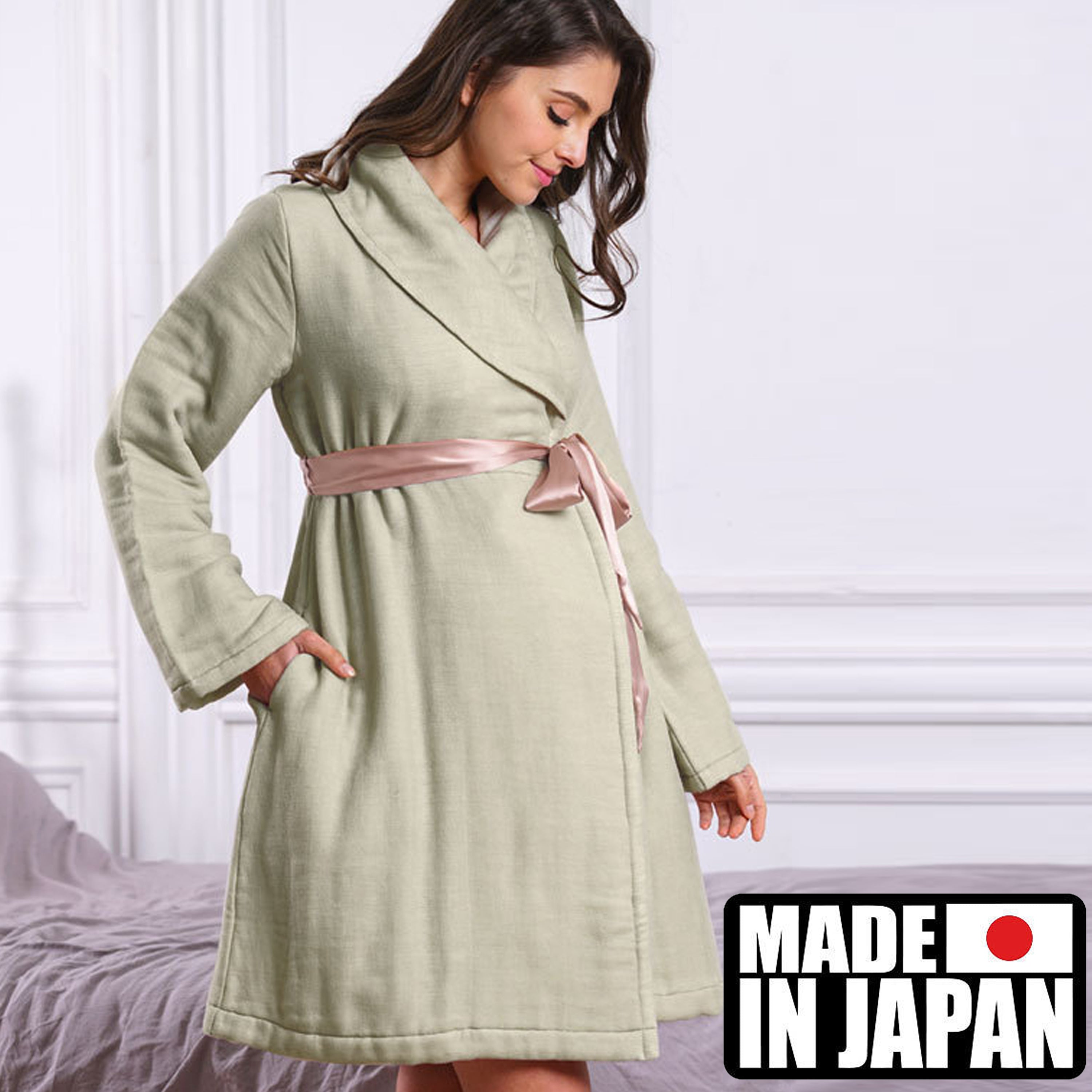 [Made in Japan] Maternity and Nursing Gauze Gown/Bathrobe