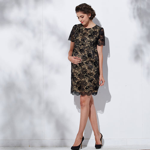 [MADE IN JAPAN] Sweet Mommy Maternity and Nursing Lace dress