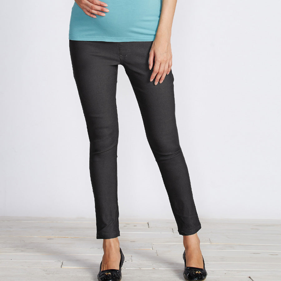 Best Selling Maternity Jeans Like Skinny Pants with Belly Band