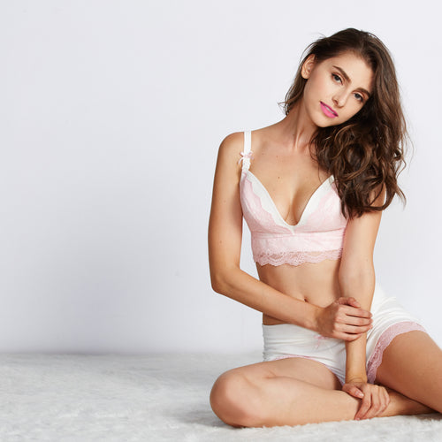 Maternity and Nursing Push Up Lacy Bra