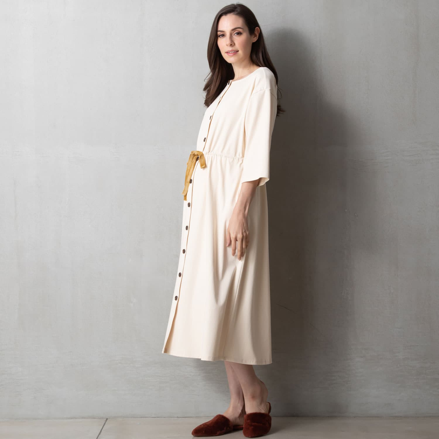 Nursing Button-Front Delivery Gown Sleepwear