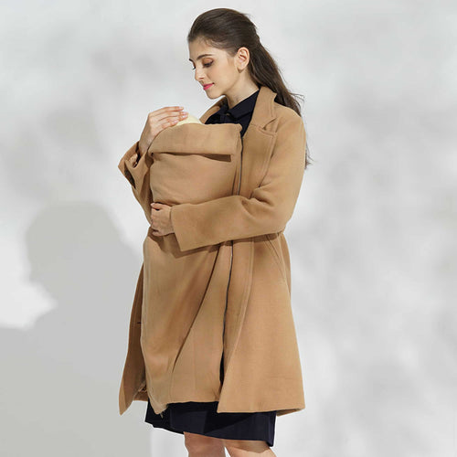 【MADE IN JAPAN】Sweet Mommy PREMIUM  Wool Coat With Baby Wearing Panel