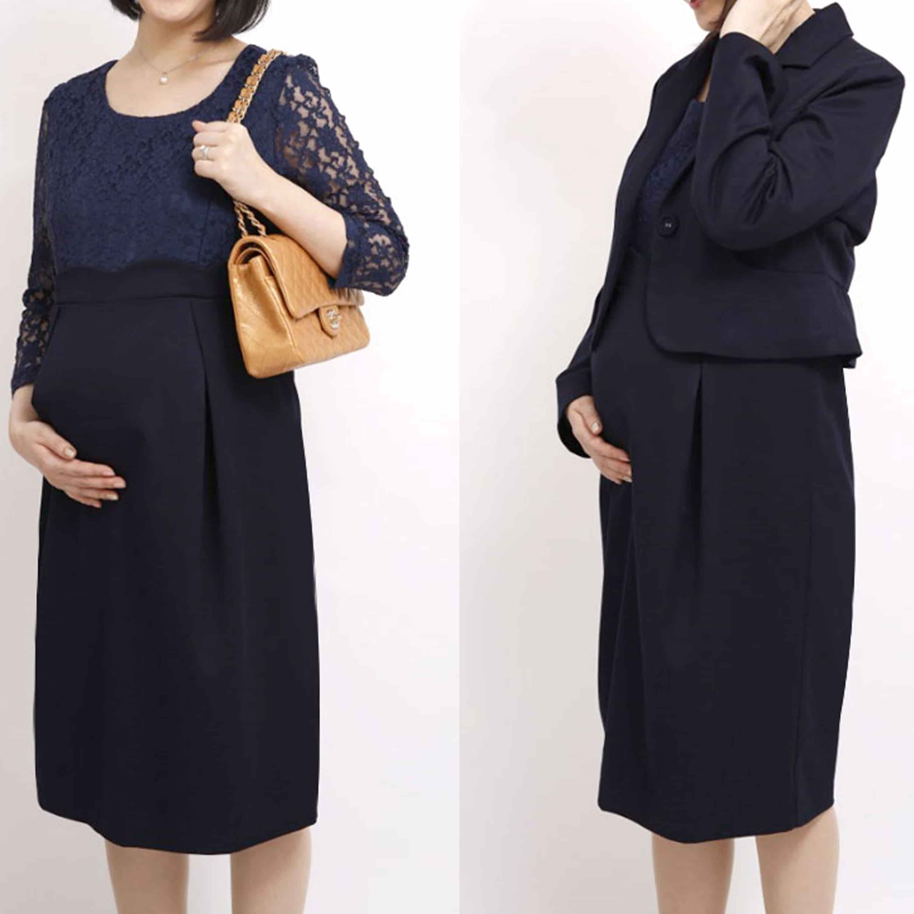 Maternity and Post-Partum Formal Classic Bolero Dress Suit