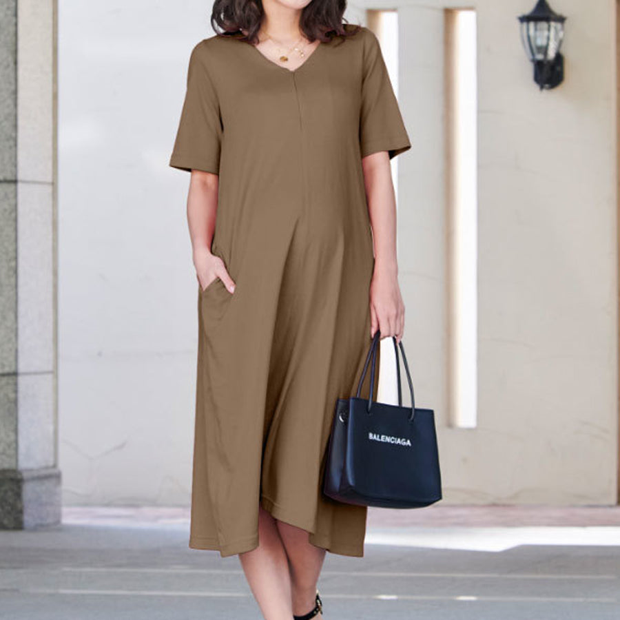 Maternity and Nursing Short Sleeve Nightgown